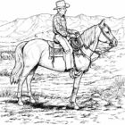 Cowboy Coloring Pages (7)