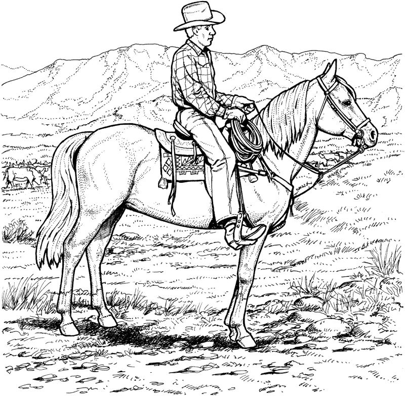 Cowboy Coloring Pages (7) - Coloring Kids