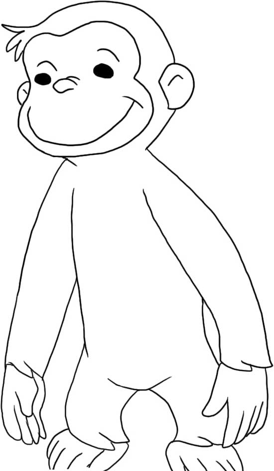coloring pages of curious george - photo#22
