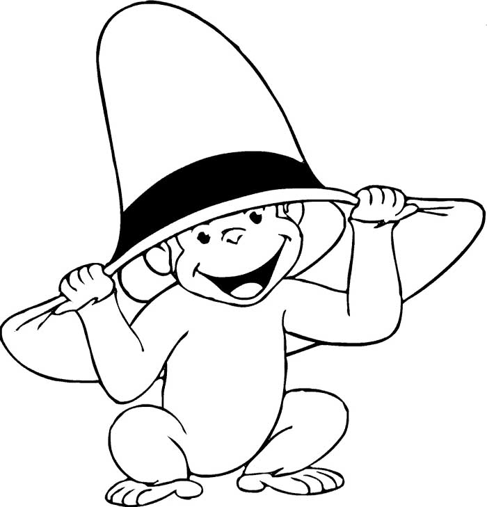 coloring pages of curious george - photo#12