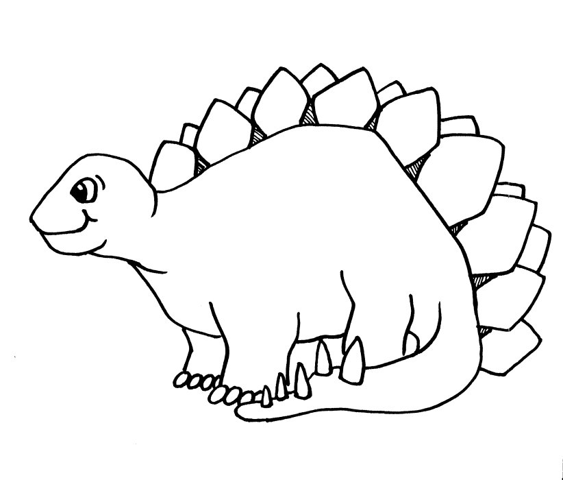 Simple Dinosaur Coloring Pages Dinosaur Coloring Pages 7  Coloring Kids