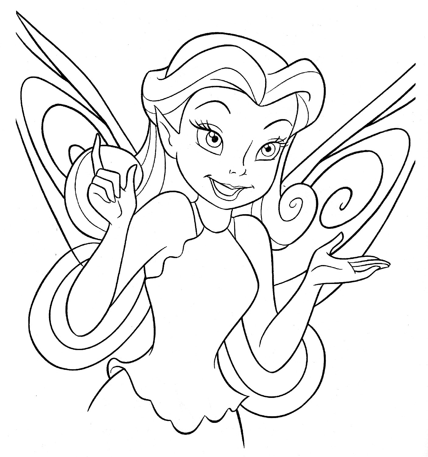 Colouring pages to print disney - Download Disney Fairies Coloring Pages Colouring Print