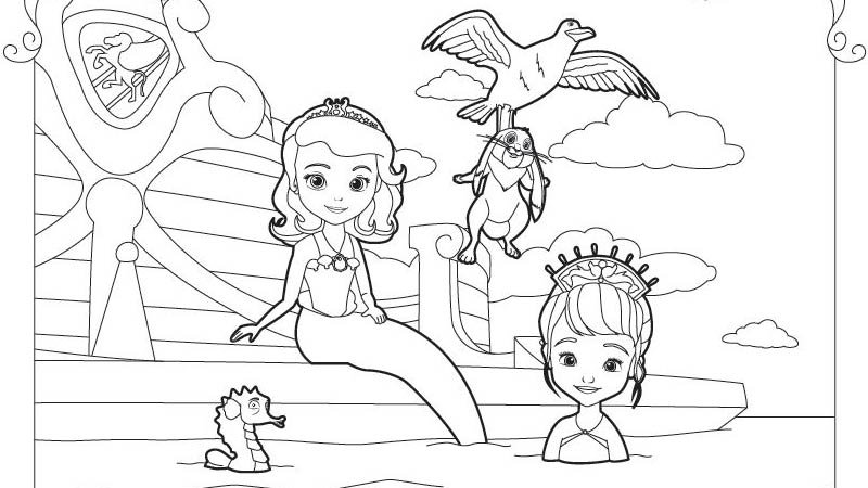 Disney Junior Coloring Pages Sofia The First images