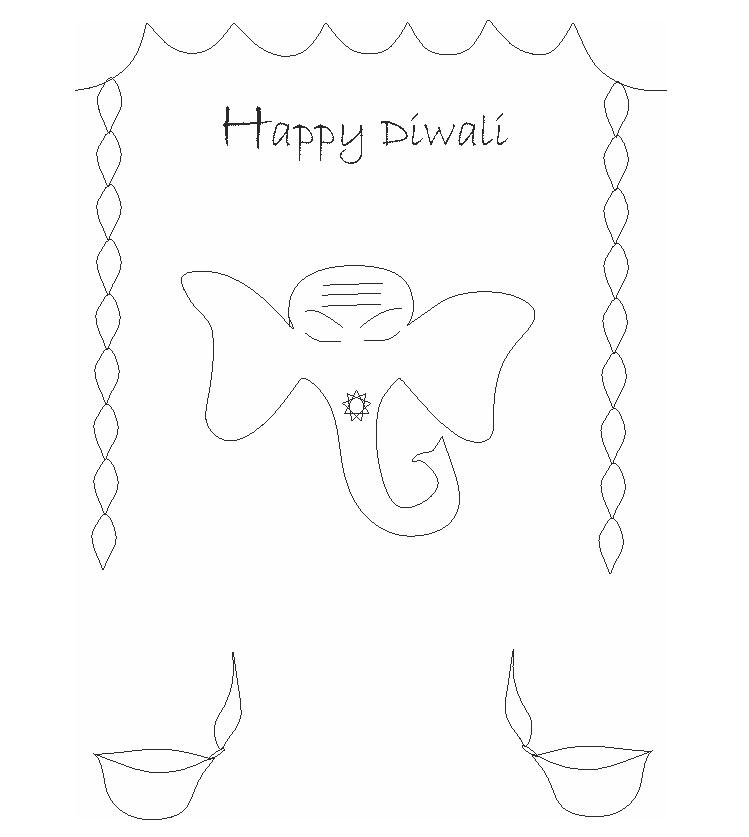 diwali coloring pages  13