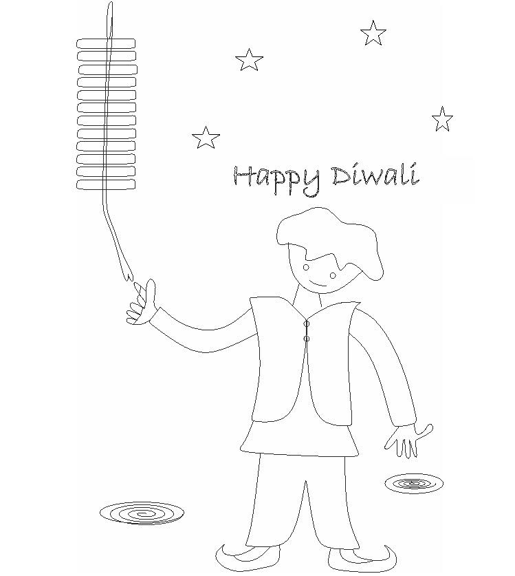 Diwali Coloring Pages 8 Coloring