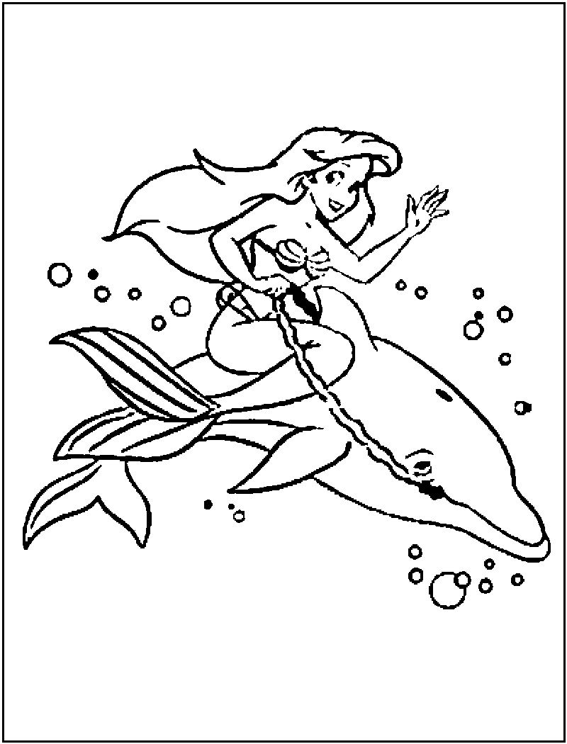 Dolphin Coloring Pages (4) | Coloring Kids