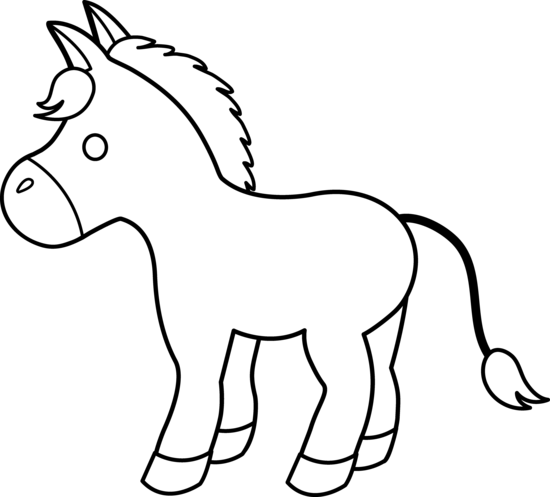donkey-coloring pages 2