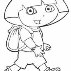 dora the explorer coloring pages 10 140x140 Dora the Explorer Coloring Pages
