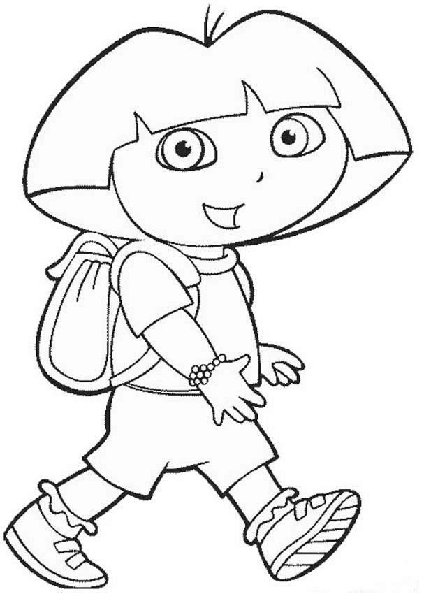 Dora the Explorer Coloring Pages 10  Coloring Kids