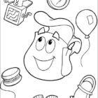 dora the explorer coloring pages 11 140x140 Dora the Explorer Coloring Pages