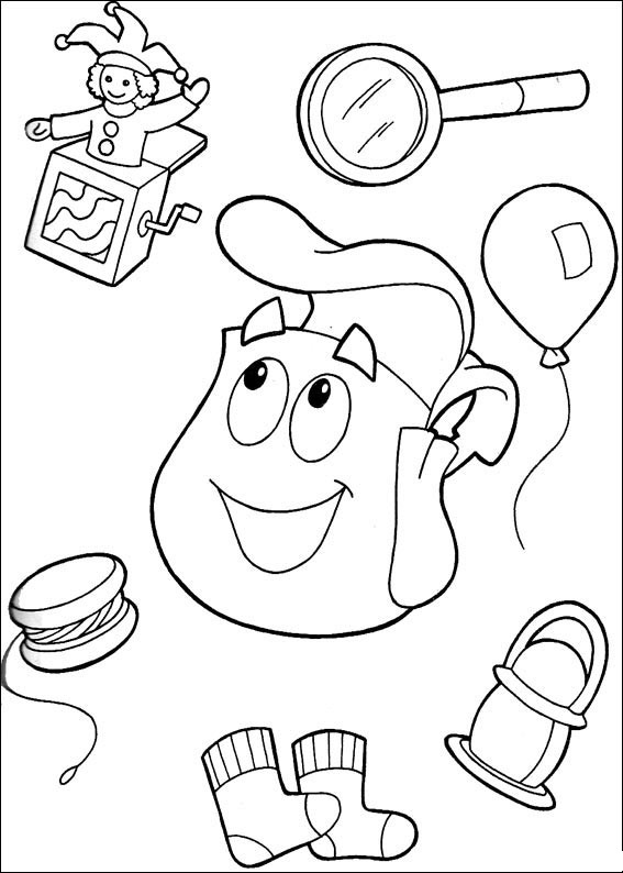 Dora the Explorer Coloring Pages 11 Coloring Kids