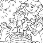 dora the explorer coloring pages 12 140x140 Dora the Explorer Coloring Pages