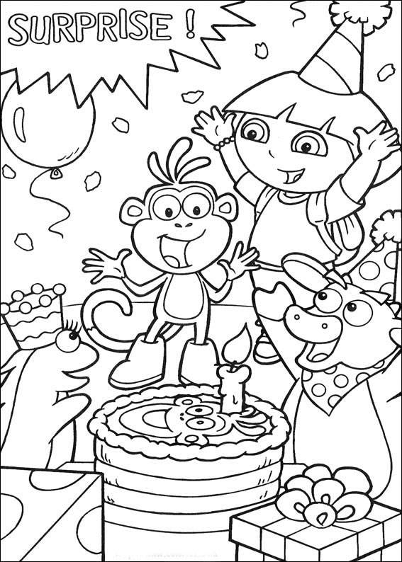 Download Dora The Explorer Coloring Pages 12 Print