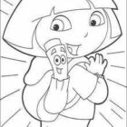 dora the explorer coloring pages 13 140x140 Dora the Explorer Coloring Pages