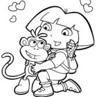 dora the explorer coloring pages 15 140x140 Dora the Explorer Coloring Pages