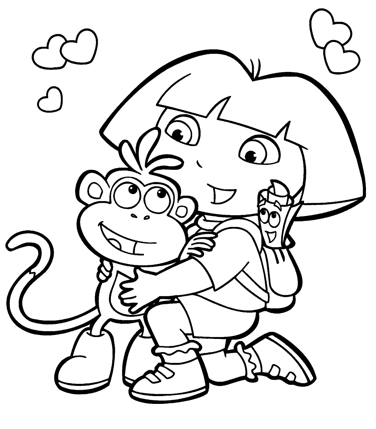 download dora the explorer coloring pages 15 print - Dora Explorer Coloring Pages Free Printable