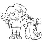 dora the explorer coloring pages 18 140x140 Dora the Explorer Coloring Pages