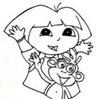 dora the explorer coloring pages 2 140x140 Dora the Explorer Coloring Pages