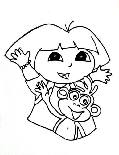 download dora the explorer coloring pages 2 print - Dora The Explorer Pictures To Color And Print