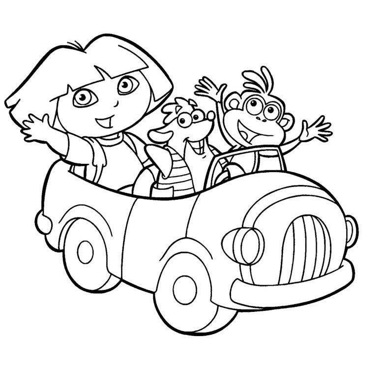 Dora the Explorer Coloring Pages 26 Coloring Kids