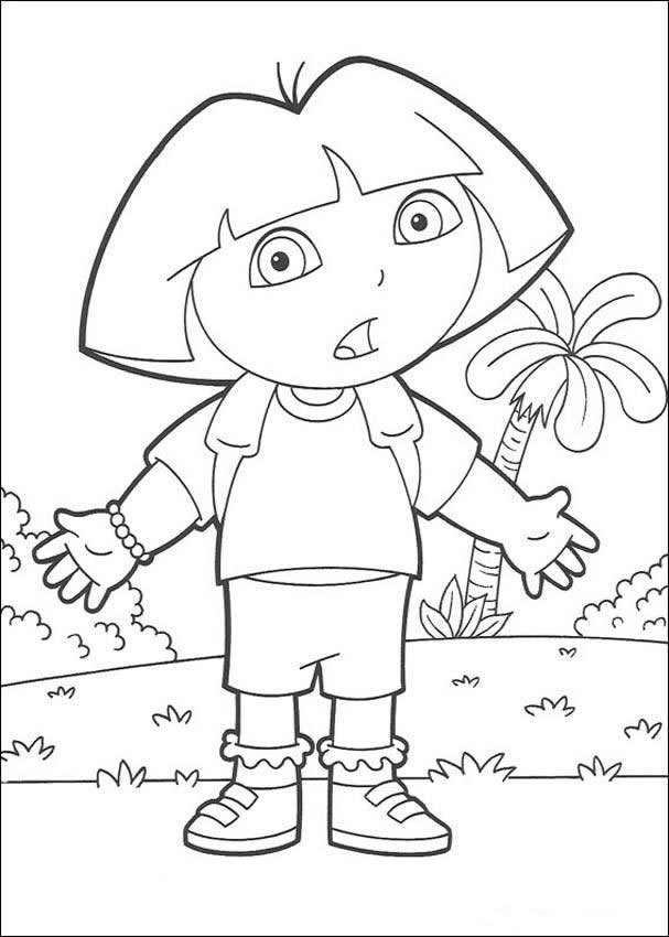 download dora the explorer coloring pages 4 print - Dora Explorer Coloring Pages Free Printable