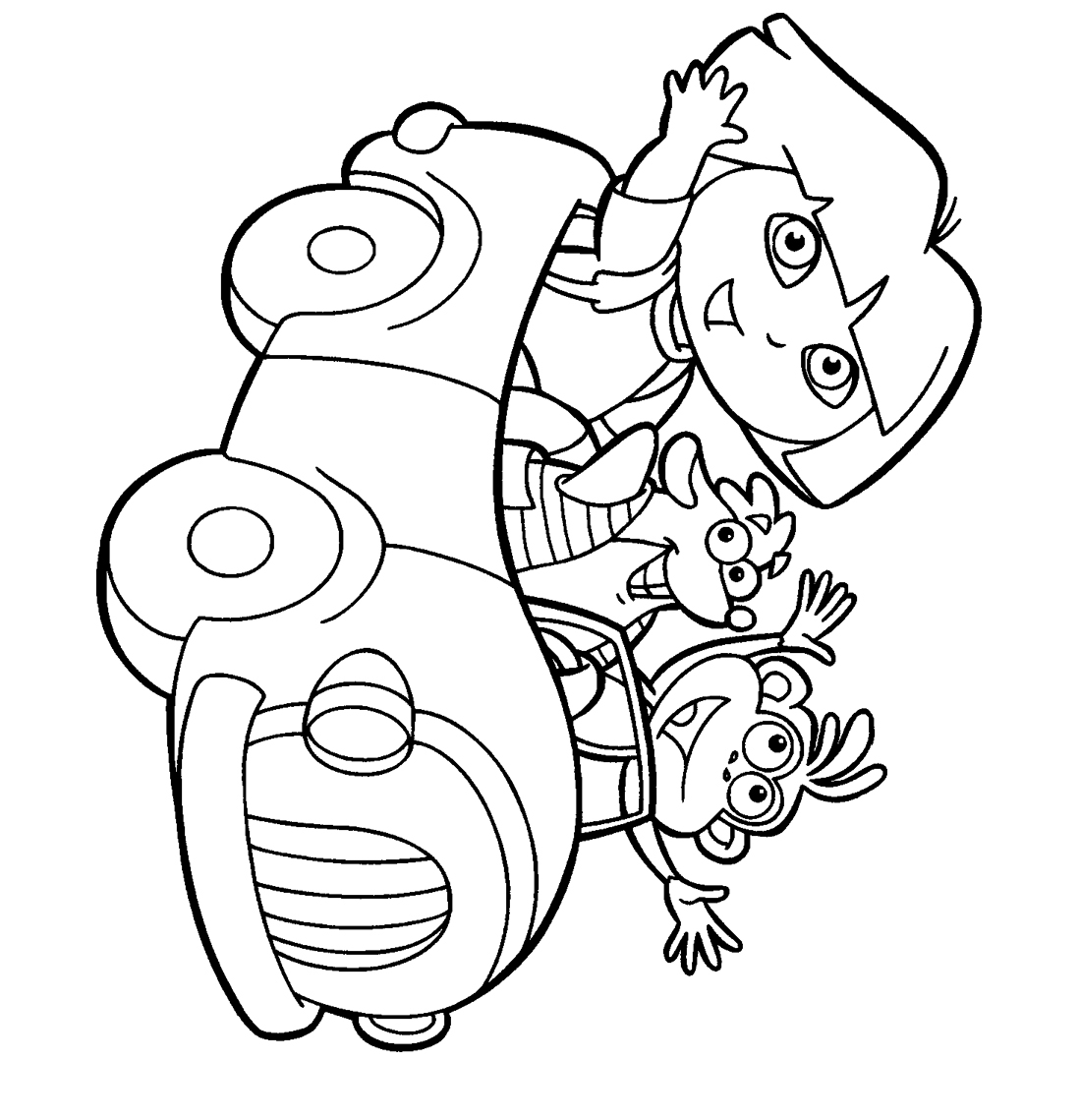 download dora the explorer coloring pages 5 print - Dora The Explorer Pictures To Color And Print
