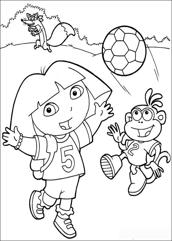 Dora the explorer coloring pages 7 coloring kids for Dora the explorer coloring pages online free