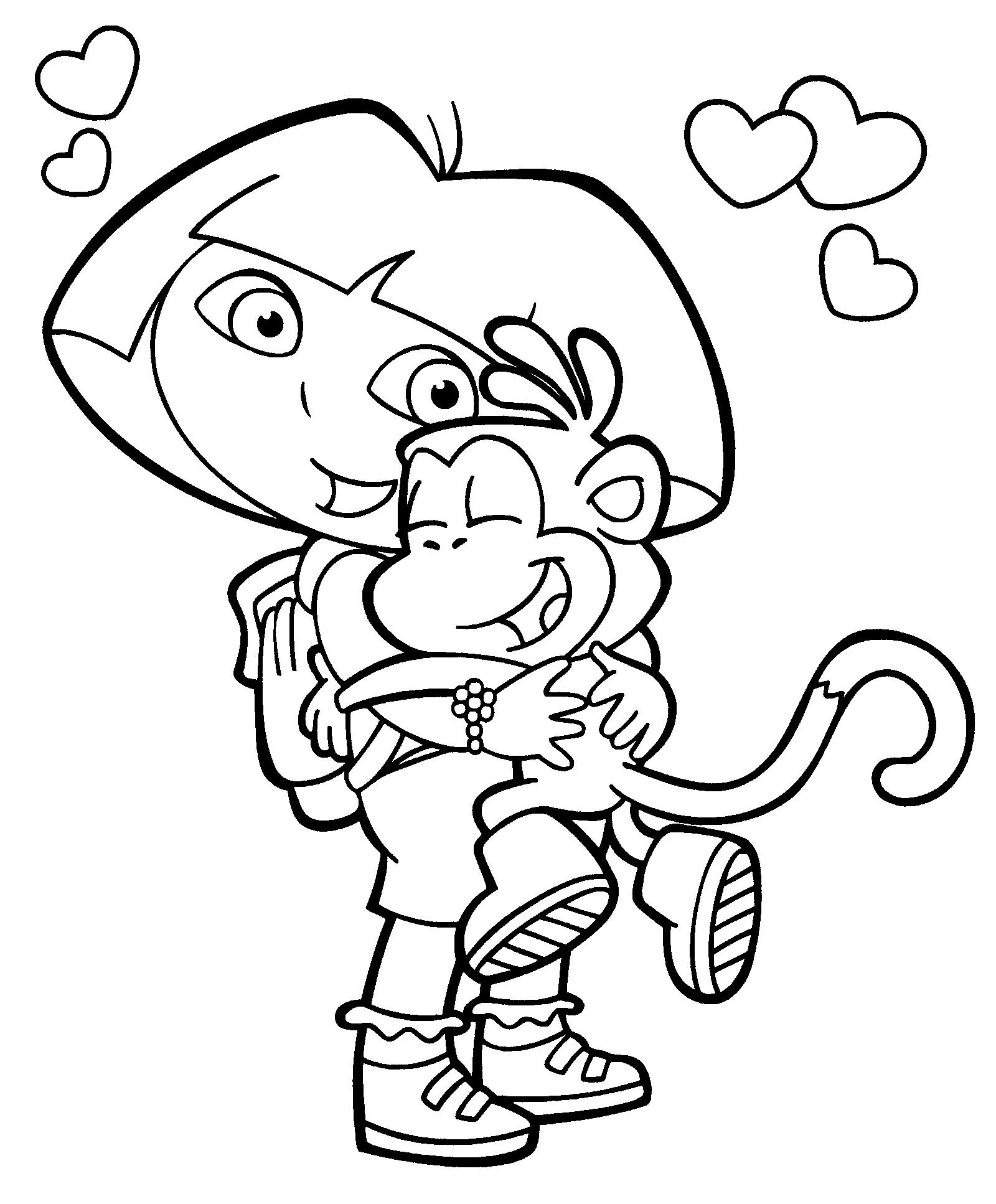 download dora the explorer coloring pages 8 print - Dora The Explorer Pictures To Color And Print