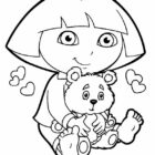 dora the explorer coloring pages 9 140x140 Dora the Explorer Coloring Pages