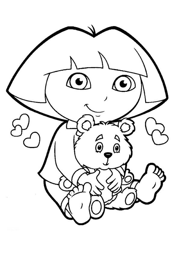 free download dora coloring pages - photo#16