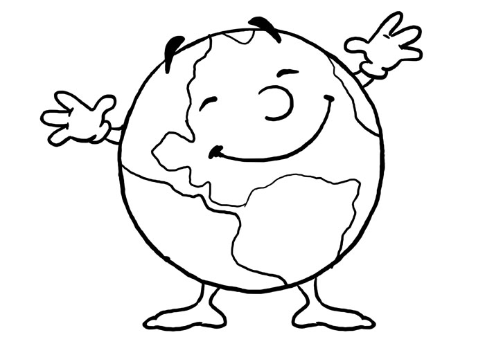 download earth day coloring pages 2 - Earth Coloring Pages