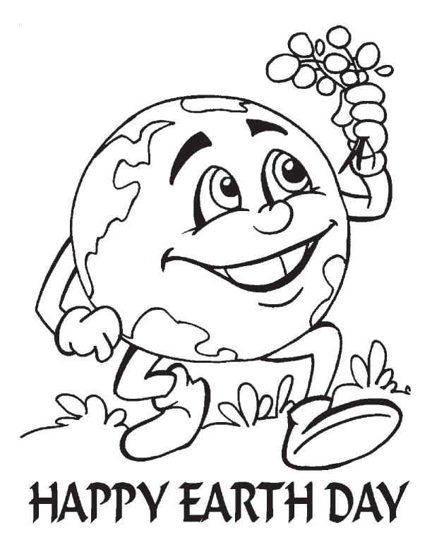 Download Earth Day Coloring Pages 6 Print Free Kids