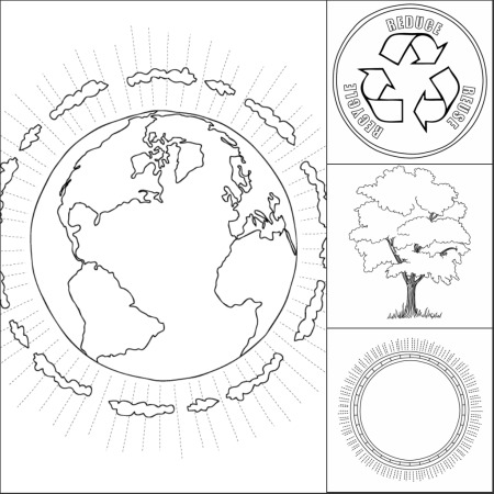 Earth Day Printable Coloring Pages 8