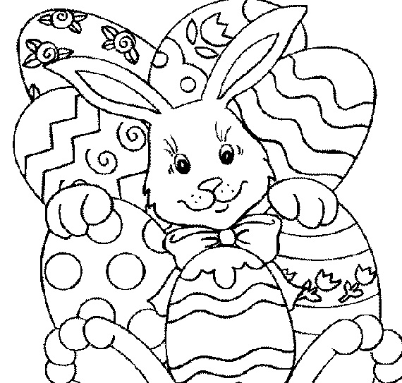Easter Coloring In Sheets : Easter coloring pages kids