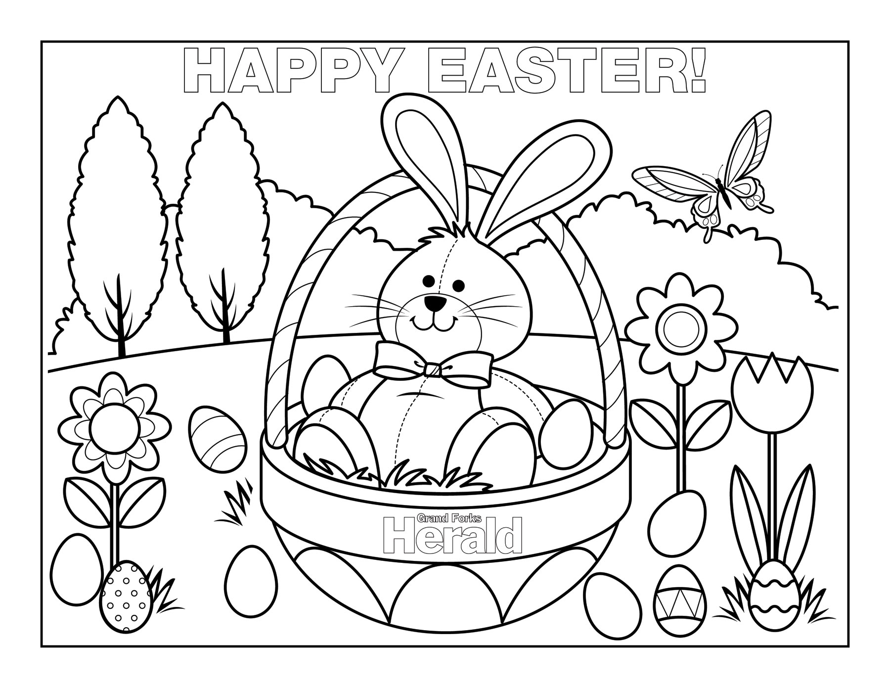Free Easter Coloring Pages For Kindergarten : Easter coloring pages kids