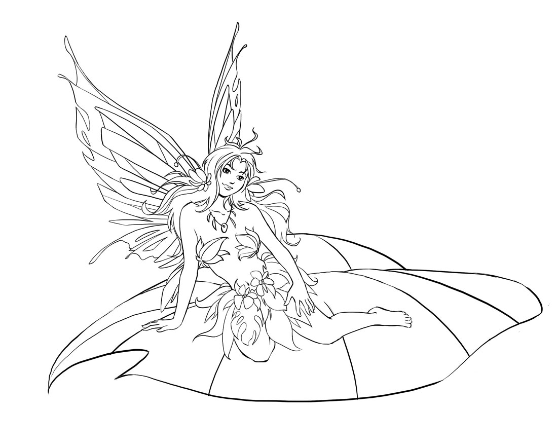 download fairies coloring pages 10