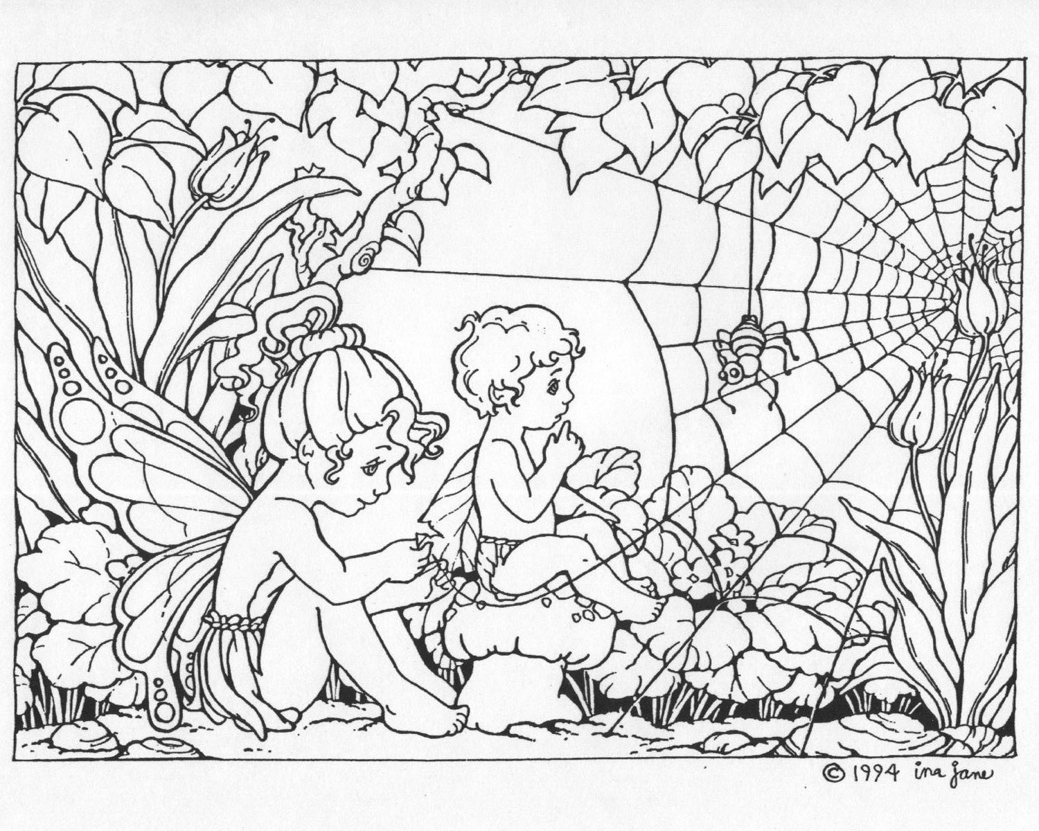 fairy coloring pages for adults - photo#34