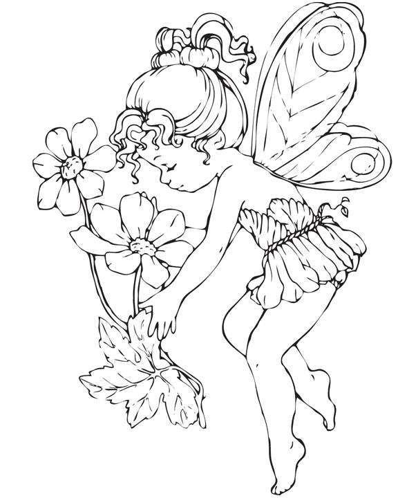 download fairies coloring pages 5