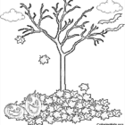 fall halloween tree coloring pages