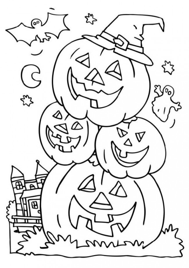 fall pumpkin Coloring Kids