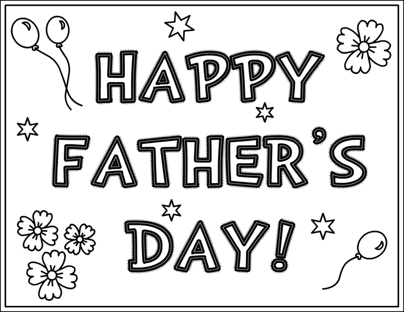 fathers day card coloring pages - photo#31