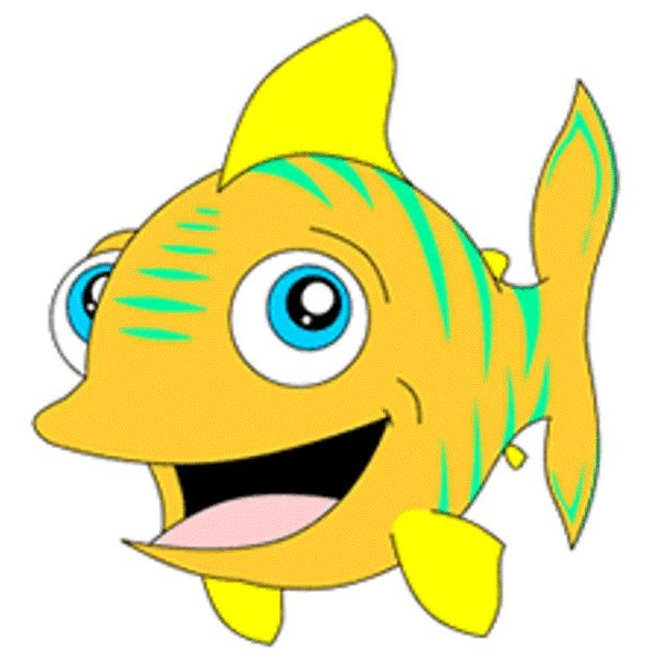 fish cartoon image coloring kids