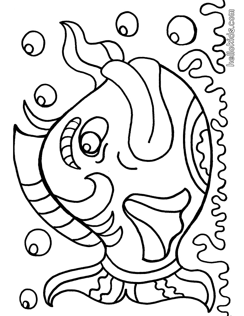 download fish coloring pages 9 - Printable Fish Coloring Pages
