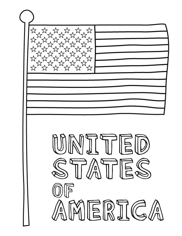 Free Coloring Pages Of The U S Flag Flag Color Page