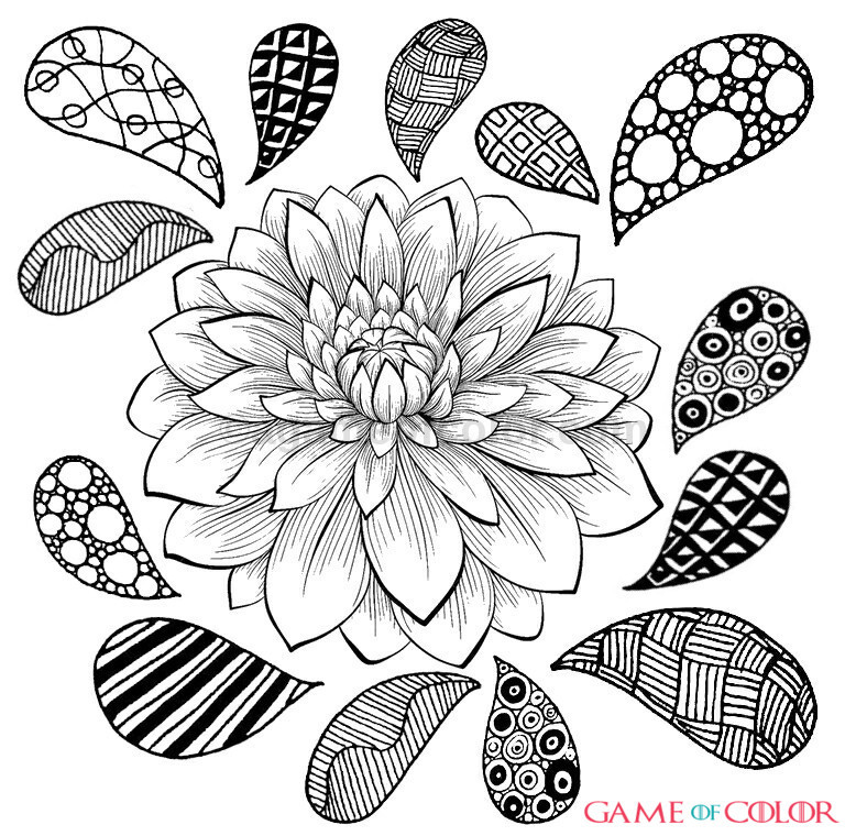 Intricate Plant Coloring Pages