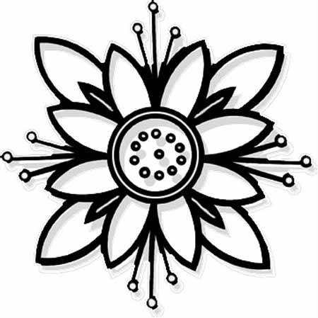 Flower Coloring Pages (11) - Coloring Kids