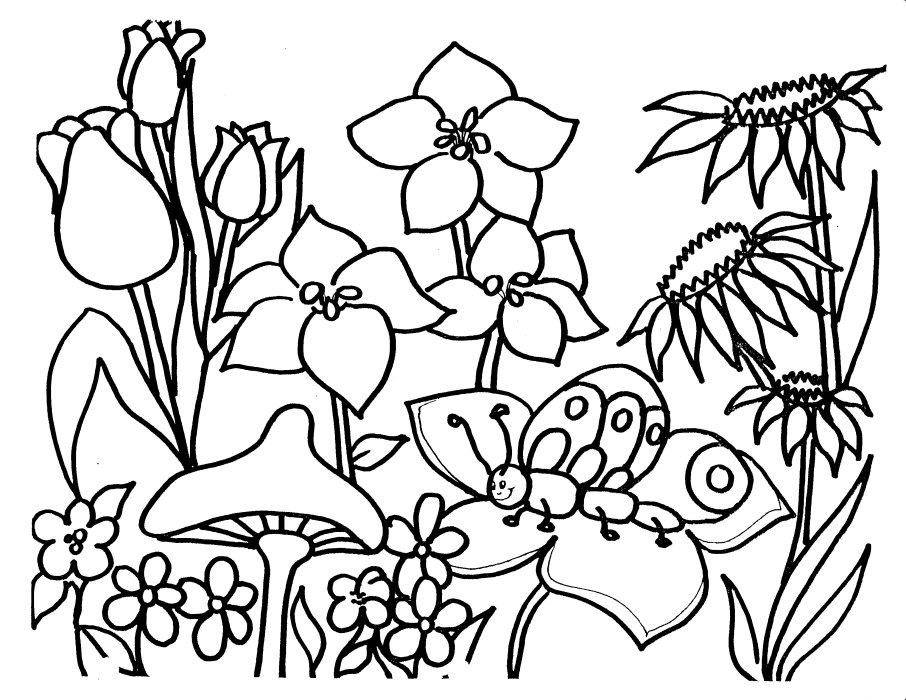 Flower Coloring Pages (18) | Coloring Kids