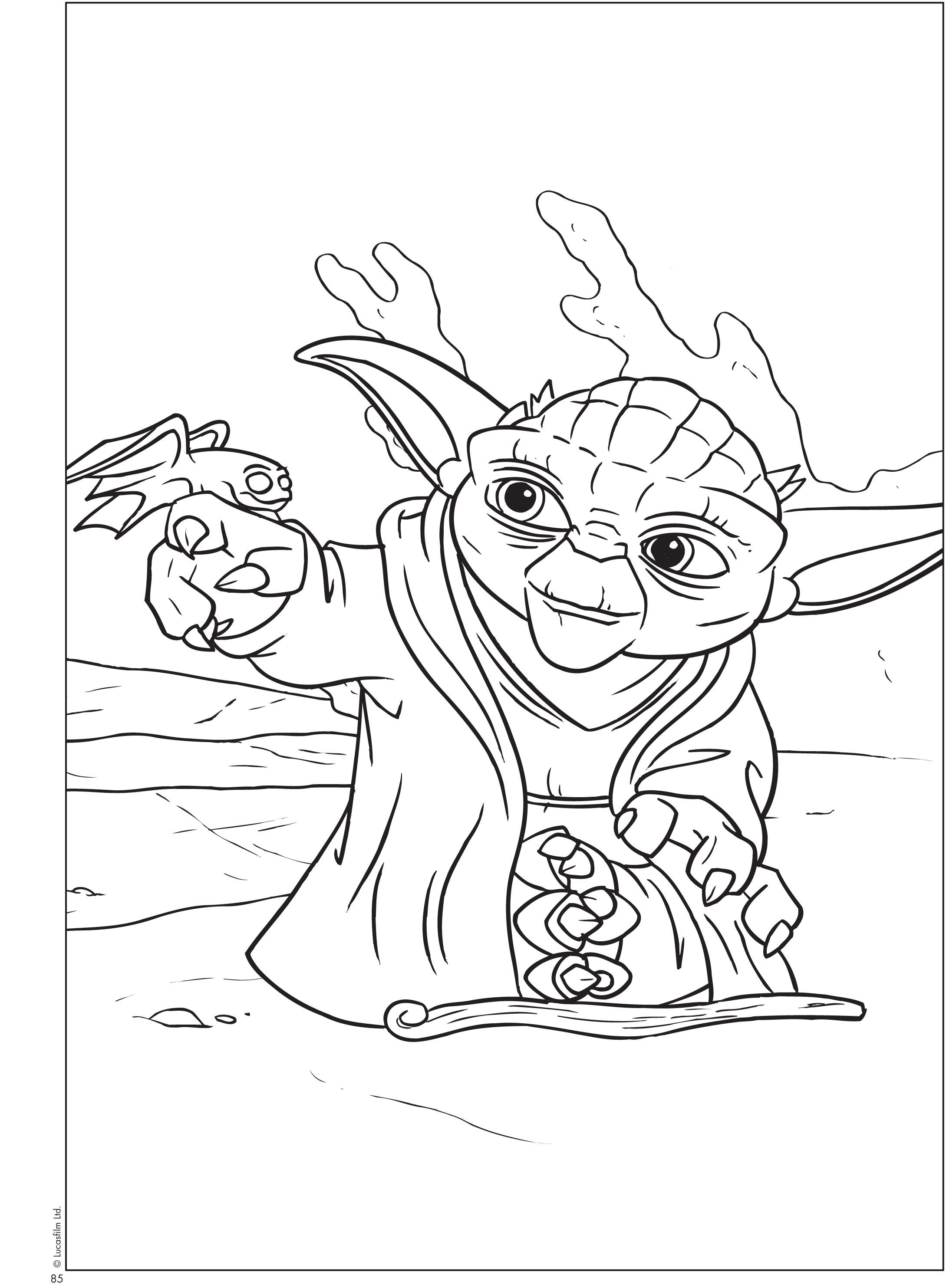download free printable star wars - Yoda Coloring Pages