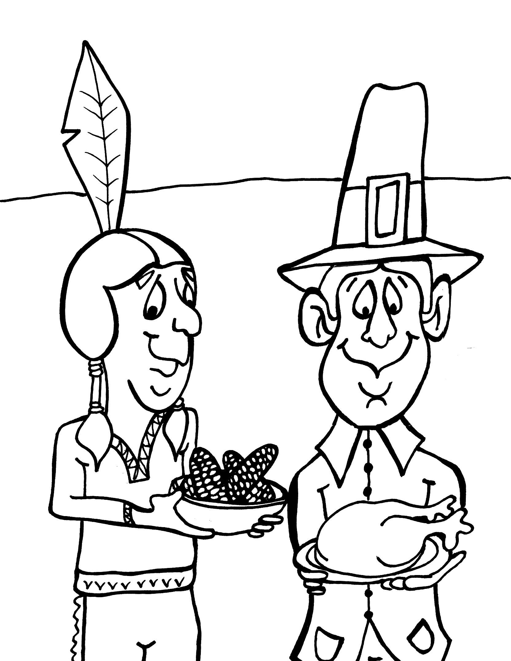 Free Printable Thanksgiving Coloring Pages For Kids