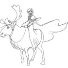 frozen coloring pages 14 140x140 Frozen Coloring Pages